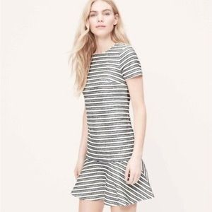Ann Taylor LOFT Tweed Striped Tennis Dress